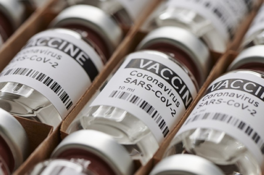 Photo of vaccine vials