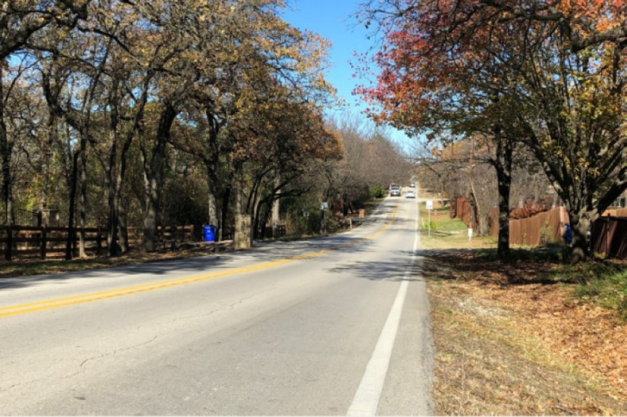 A rehabilitation project on Roanoke Road is one of a number of transportation projects in progress in the city of Keller. (Ian Pribanic/Community Impact Newspaper)