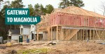 Model homes are under construction in Heron Heights, the first neighborhood in Audubon Magnolia, a 3,000-acre master-planned community. (Anna Lotz/Community Impact Newspaper)