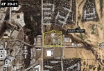 An aerial photo shows the subject property in relation to the nearby residences. (Courtesy city of Richardson)