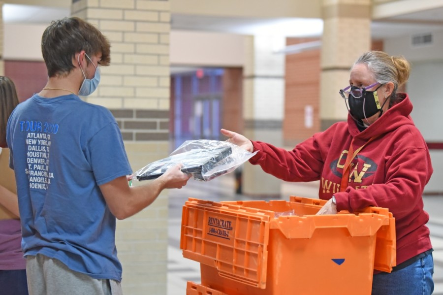 District officials continue to distribute Chromebooks to students throughout the 2020-21 school year. (Courtesy Cy-Fair ISD)
