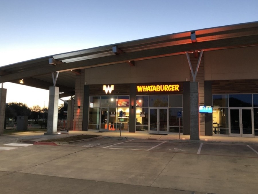 Whataburger opened a location in the cell phone lot of Austin-Bergstrom International Airport on Jan. 28. (Courtesy Whataburger)
