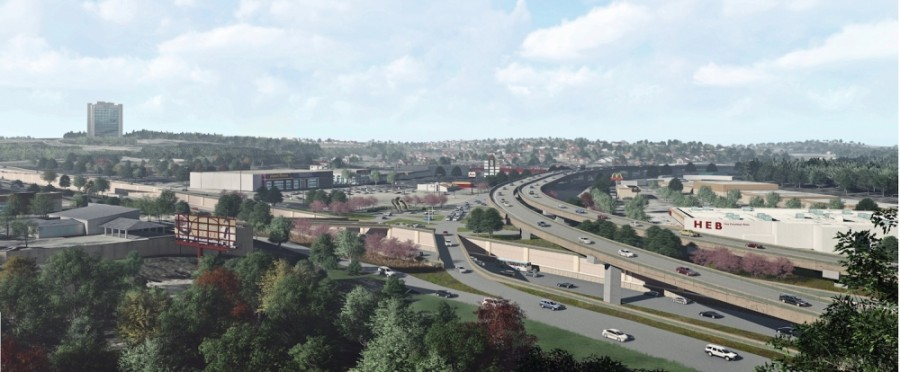 The Oak Hill Parkway project is set to break ground in the middle of 2021. (Rendering courtesy Texas Department of Transportation)
