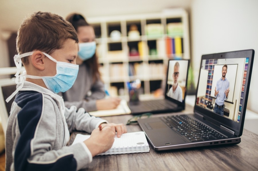 Some school district employees are able to continue working remotely while quarantined. (Courtesy Adobe Stock)