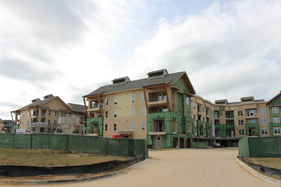 The apartments are anticipated to begin leasing this spring and officially open in the summer. (Ben Thompson/Community Impact Newspaper)
