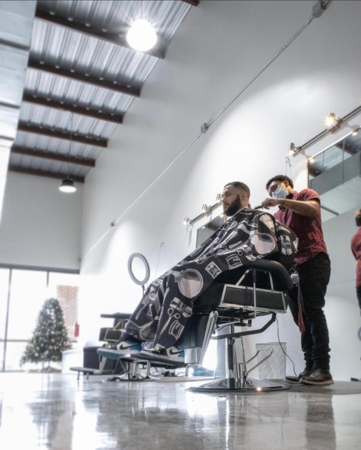 Over Yonder Barbershop opened in early December at 11730 Spring Cypress Road, Unit 5, Tomball. (Courtesy Giovanni LaVerde)