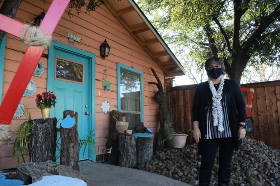 Nazanin Ahmady is the owner of Junction Arts studio. (Photos by Matt Payne/Community Impact Newspaper)