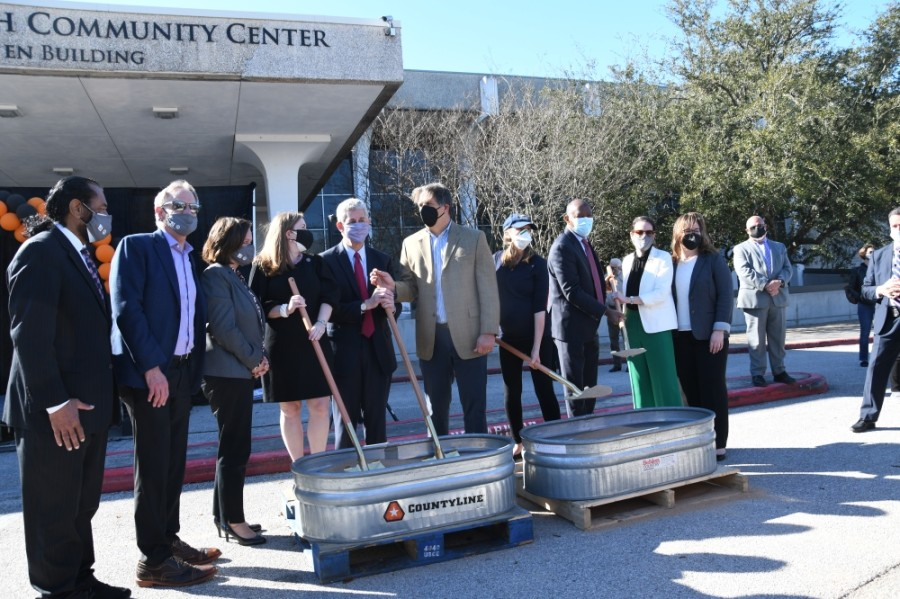 The Evelyn Rubenstein Jewish Community Center broke ground on its $50 million expansion and renovation project on Jan. 31. (Hunter Marrow/Community Impact Newspaper)