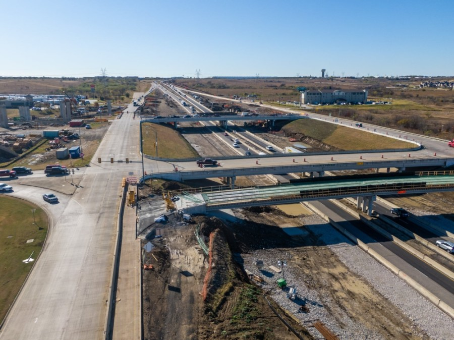 The North Tarrant Express project continues to affect drivers in north Fort Worth. (Courtesy Hillwood)