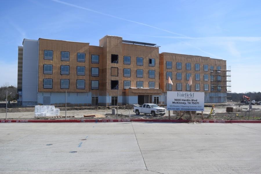 Fairfield by Marriott is expected to open in August at 1600 Hardin Blvd., McKinney. (Matt Payne/Community Impact Newspaper)