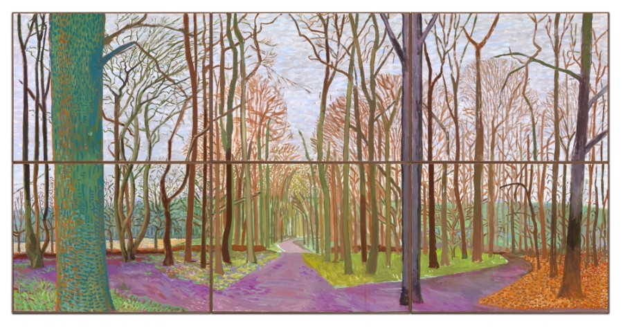 "The Museum of Fine Arts, Houston opens two new exhibits, including ""Hockney-Van Gogh: The Joy of Nature,"" on Feb. 21. (Courtesy Museum of Fine Arts, Houston)"