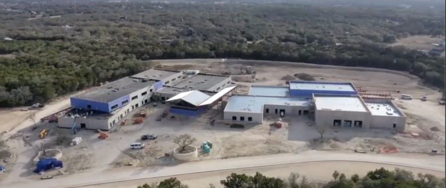 Drone photo of Cypress Springs Elementary