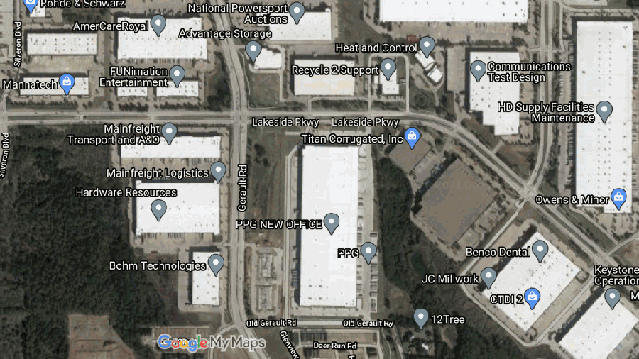 Flower Mound Town Council on Feb. 1 approved economic incentives totaling about $155,000 with Communications Test Design Inc. (Screenshot from Google Maps)