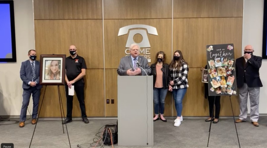 "State Sen. Paul Bettencourt, R-Houston, speaks at a Feb. 1 press conference to introduce ""Caitlynne's Bill,"" aimed at restricting which felony defendants can receive personal recognizance bonds. (Screenshot courtesy Facebook)"