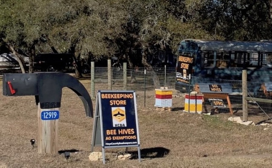 The new HCBA Beekeeping Store has a selection of beekeeping equipment and honey bees, while offering advice to those interested in bees. (Courtesy Hays County Beekeepers Association)