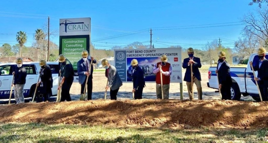 Fort Bend County officials broke ground on the new emergency operations center Feb. 1. (Courtesy Fort Bend County)