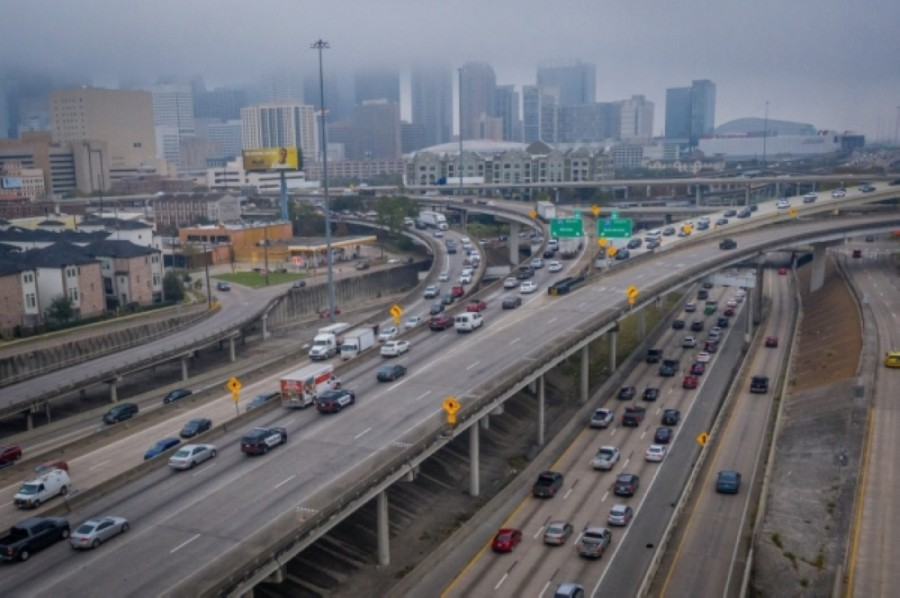 I-45 aerial view