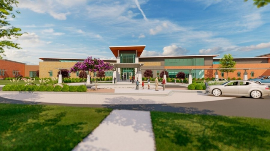 Jessica Carpenter Elementary School is one of two campuses set to open in advance of the 2021-22 school year. (Rendering courtesy Pflugerville ISD)