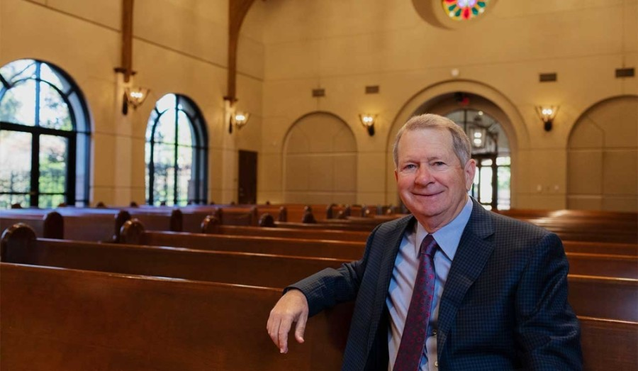 Ed Robb is set to retire as senior pastor of The Woodlands United Methodist Church more than 40 years after he founded the church. (Courtesy The Woodlands United Methodist Church)