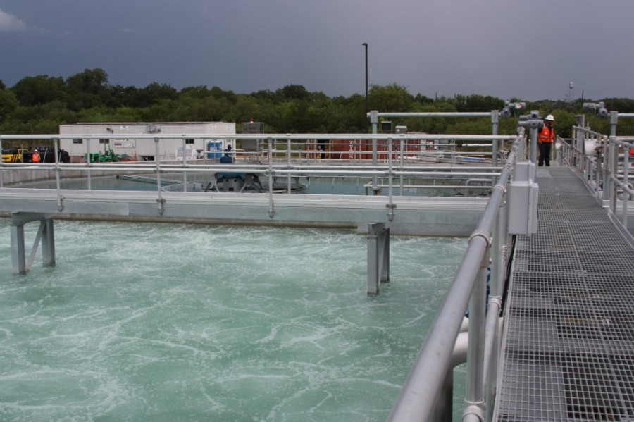The Gruene Water Reclamation Facility began operations in September 2020. (Lauren Canterberry/Community Impact Newspaper)