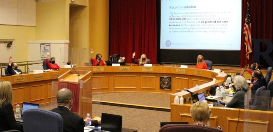 Board members vote.