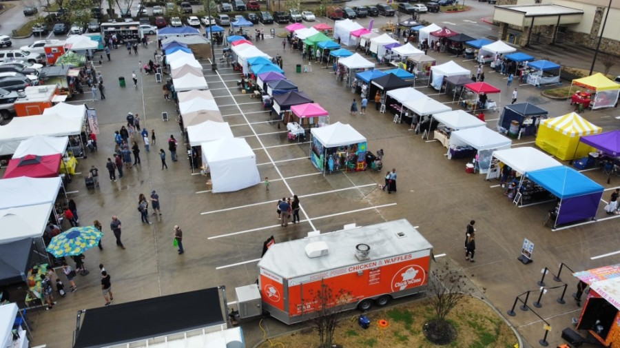 The Rayford Sunday Market added to its dozens of vendor spots following its reopening in spring 2020. (Courtesy Rayford Sunday Market)