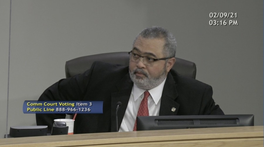"Travis County Commissioner Jeffrey Travillion said it would be ""patently unfair"" to deny a petition signed by nearly 5,000 residents. (Screenshot courtesy Travis County Commissioners Court)"