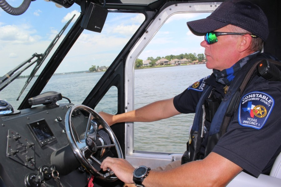 Deputy Joey Ashton with Montgomery County Precinct 1 Constable's Office will be an instructor. Ashton nearly drowned on Lake Conroe in 2010 and uses this experience to educate others. (Eva Vigh/Community Impact Newspaper)