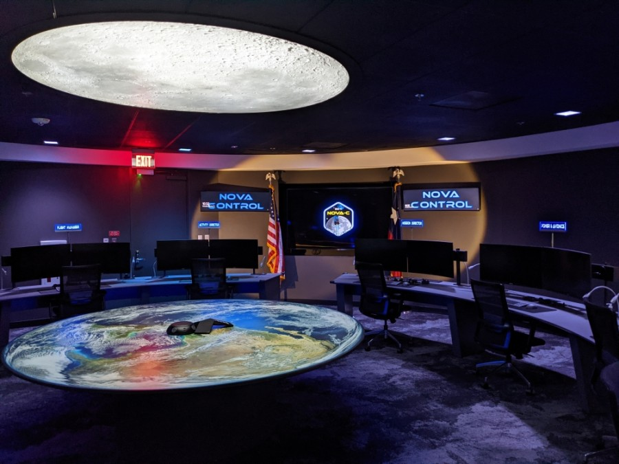 Nova Control is Intuitive Machines' new mission control room where the company will work to guide the Nova-C lunar lander to the moon as early as November. (Jake Magee/Community Impact Newspaper)