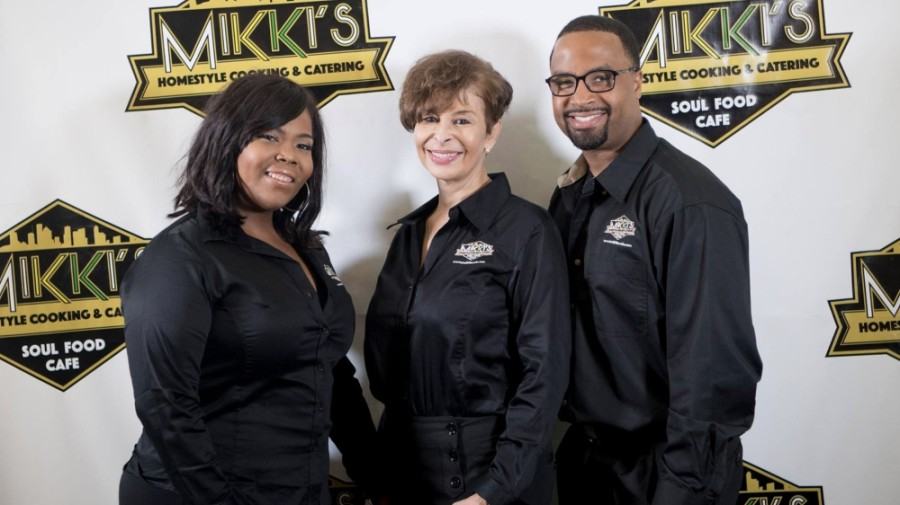 Joseph, his mother Jeanette Williams (center) and sister Jeanelle Williams opened the first Mikki's location 20 years ago. (Courtesy of Craig Joseph)