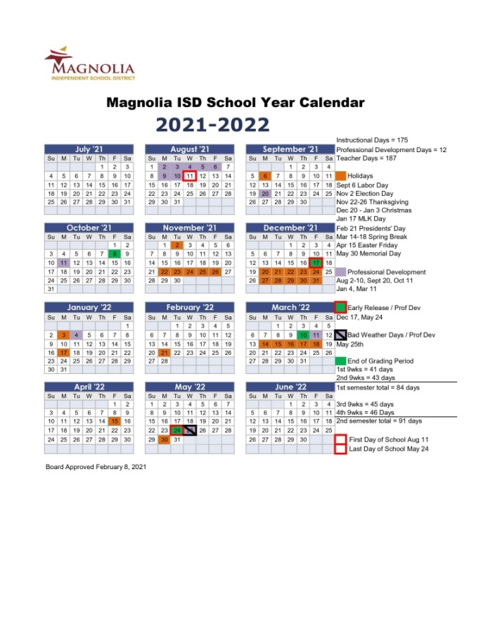 This reflects a very traditional calendar': Magnolia ISD approves