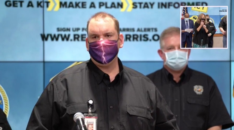 At a Feb. 12 press conference, Jeff Lindner, a meteorologist with the Harris County Flood Control District, told residents to prepare to hunker down starting Feb. 14 through Feb. 16. (Screenshot courtesy Facebook)