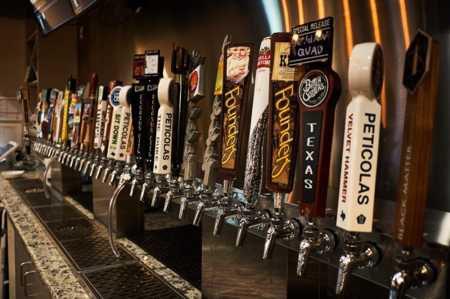Kegs & Mugs keeps a large array of beers on tap, including India pale ales and stouts. (Courtesy Kegs & Mugs)