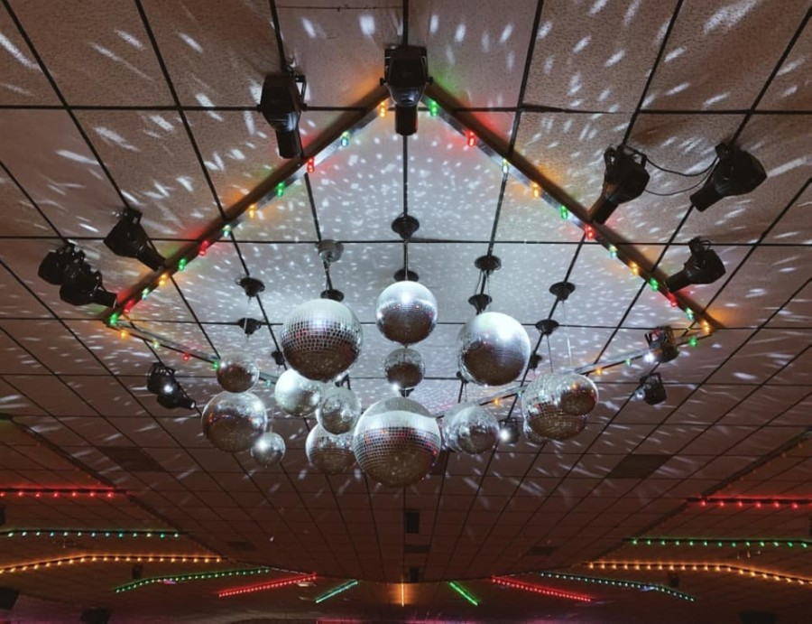 Interskate Roller Rink sports a variety of lighting setups for different events. (Courtesy Interskate Roller Rink)