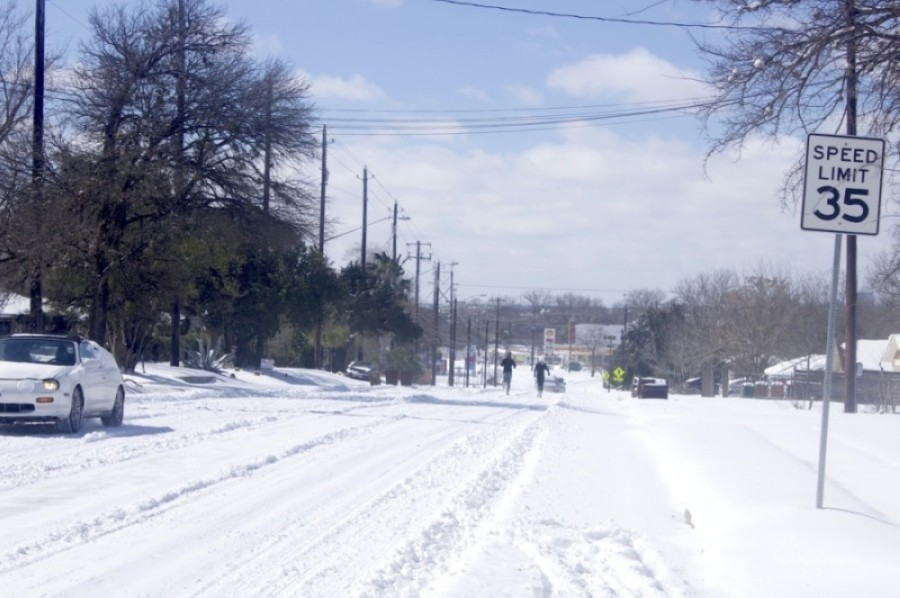 Winter weather impacted the Austin area overnight Feb. 14 and 15. (Jack Flagler/Community Impact Newspaper)