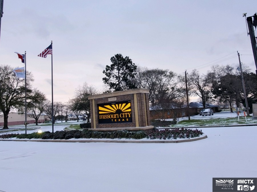 Missouri City officials are hosting daily 10 a.m. press conferences on the ongoing winter weather conditions. (Courtesy city of Missouri City)