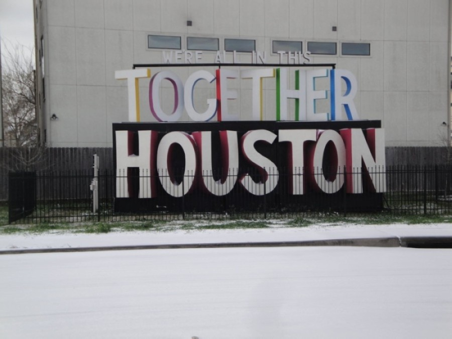 The Greater Houston area continued to see near-freezing temperatures and power outages Feb. 17. (Courtesy Metropolitan Transit Authority of Harris County)