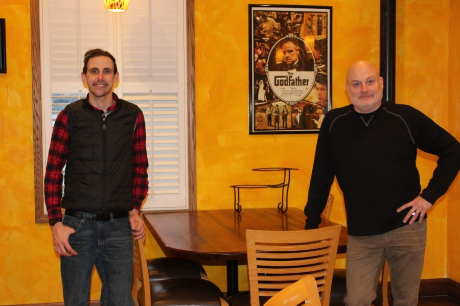 General Manager Zach Kunde, left, and Executive General Manager John Long have been working over the past year to ensure diner safety while providing a family-friendly atmosphere. (Photos by Wendy Sturges/Community Impact Newspaper)