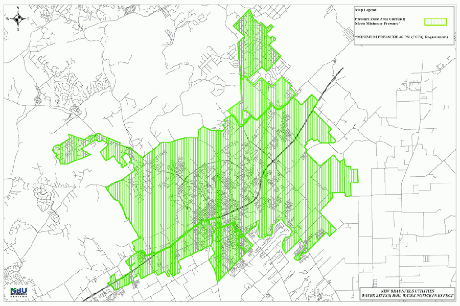 The New Braunfels Utilities service area has had full water pressure restored throughout the system. (Courtesy New Braunfels Utilities)
