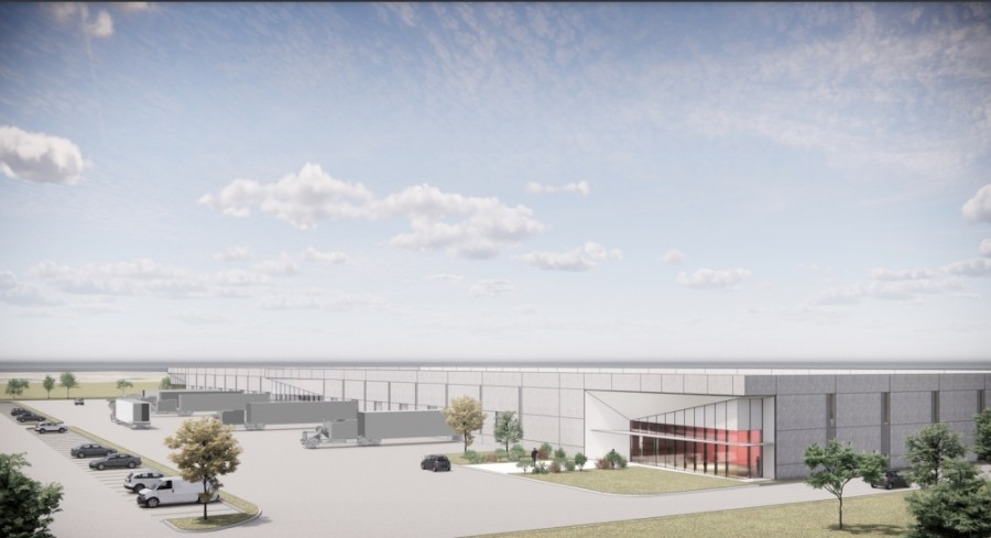 The Rastegar project will total 530,000 square feet of industrial space. (Rendering courtesy Rastegar Property Co.)