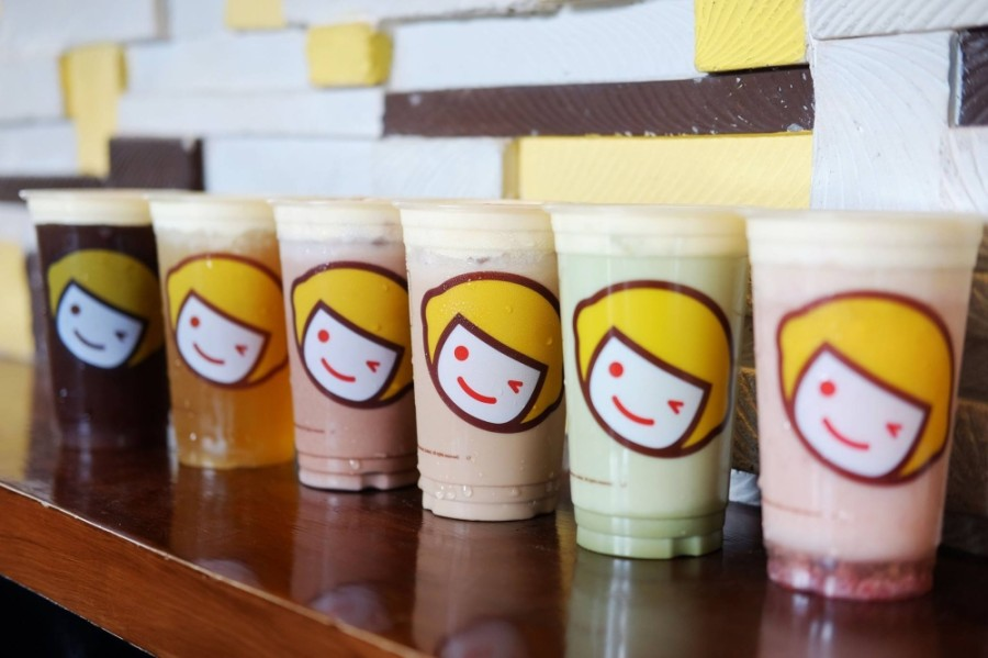 The Chinese boba company sells a variety of fruit teas, milk teas, cheese teas, smoothies and slushies. (Screenshot via Happy Lemon)
