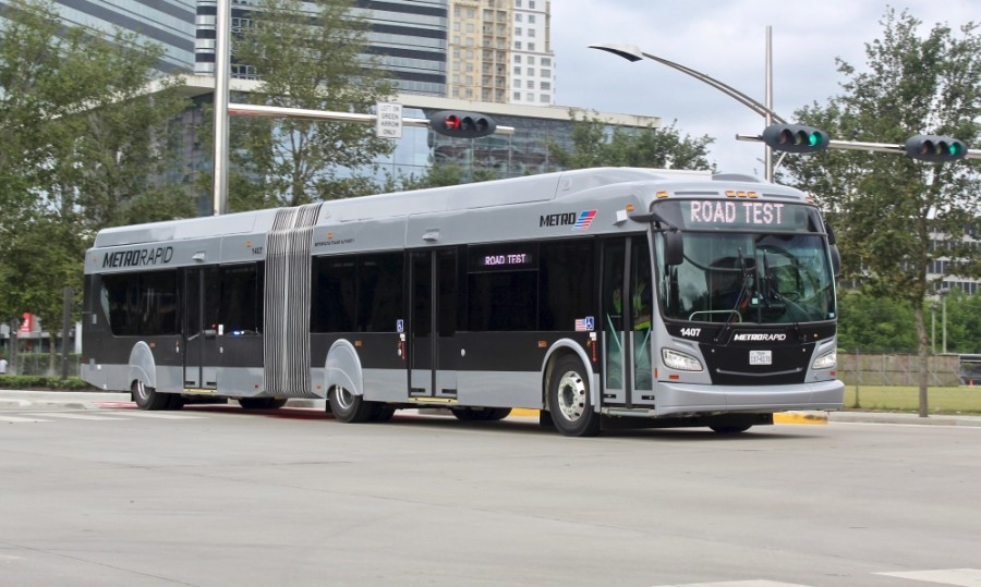 The METRORapid Silver Line brought bus-rapid transit to Uptown in August. A public hearing Feb. 25 will allow feedback on similar plans for the Inner Katy corridor. (Matt Dulin/Community Impact Newspaper)