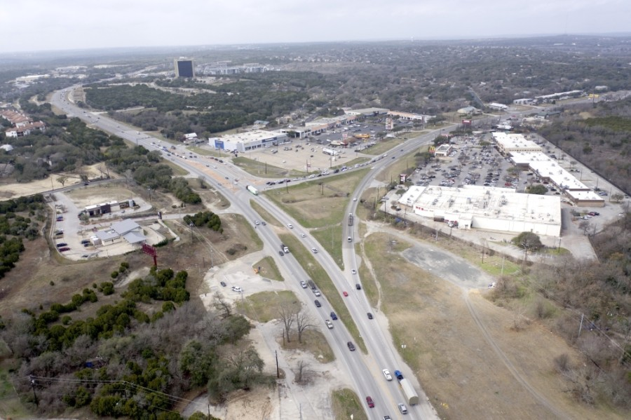 The 3.9-mile stretch of Hwy. 290 through the Y at Oak Hill was ranked the 43rd worst stretch of road in the state by the Texas A&M Transportation Institute. The report was issued in December, but used data from before the pandemic in 2019. (Courtesy Falcon Sky Photography)