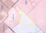 No street address has yet been assigned to the property, but the agricultural land lies closest to Bunton Creek Road and borders the southern boundary of Lehman High School. (Screen shot courtesy city of Kyle)