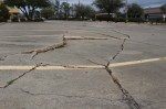 Excessive groundwater use from aquifers can lead to subsidence, or sinking of the earth, which can exacerbate the activity of fault lines. Fault lines criss-cross Montgomery County, including this one at the corner of Sgt. Ed. Holcomb Blvd. N. and Hwy. 105 in Conroe. (Eva Vigh, Community Impact Newspaper)