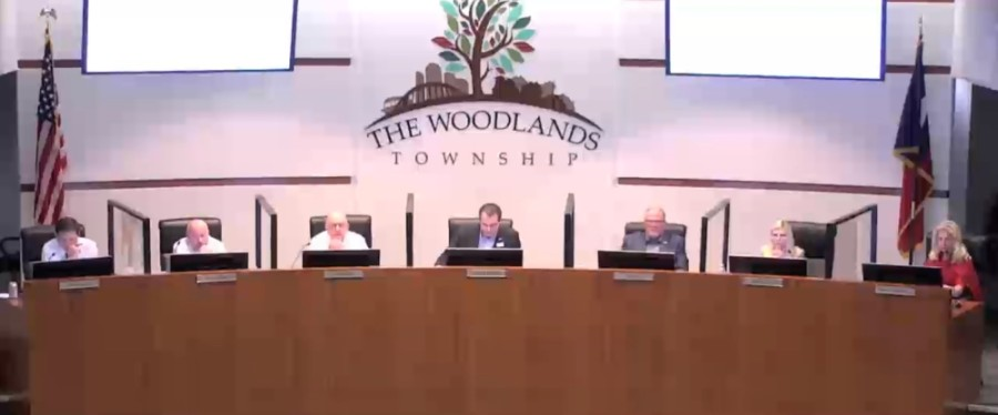 The Woodlands Township board of directors met Feb. 24 to discuss items including winter storm recovery and a financial report. (Screenshot via The Woodlands Township)