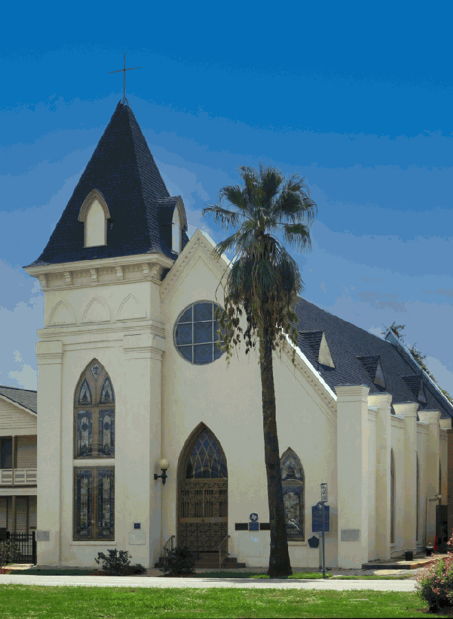 Reedy Chapel, one of more than a dozen historically Black churches in Galveston, is a stop on the tour. (Courtesy Clayton Kolavo/GICVB Marketing)