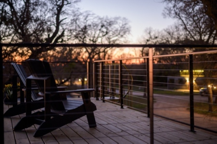 Homes at Happy Goat Retreat will include a private fire pit and a private rooftop deck. (Courtesy Happy Goat Retreat)