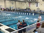 Frisco ISD swimmers competed in a districtwide meet inside the Bruce Eubanks Natatorium in January. (Courtesy Frisco ISD)