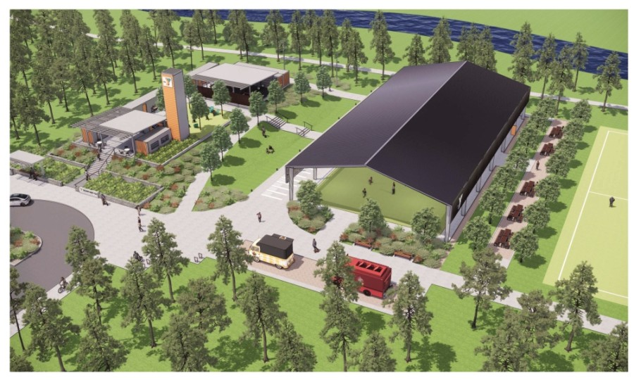 The Holcomb Family YMCA will be built on the shores of Lake Holcomb in Spring's Falls at Imperial Oaks development. (Courtesy YMCA of Greater Houston)